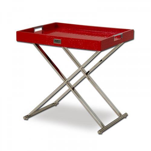 Gallery - A&X Cecilia Red Crocodile Tray Table
