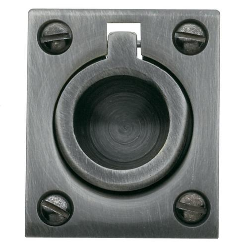 Baldwin - Antique Nickel Flush Ring Pull