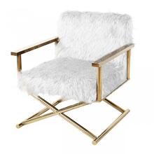 View Product - Modrest Haxtun - Modern CReam Sherpa Accent Chair