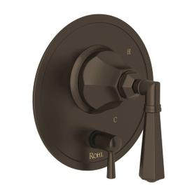 Palladian Pressure Balance Trim with Diverter - Tuscan Brass with Metal Lever Handle