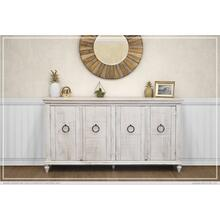 Console w/ 4 Doors, Ivory finish