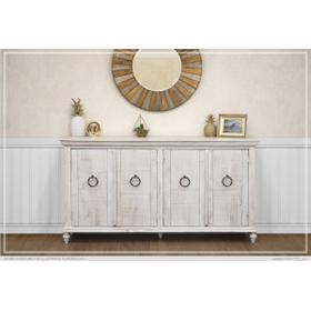 See Details - Console w/ 4 Doors, Ivory finish