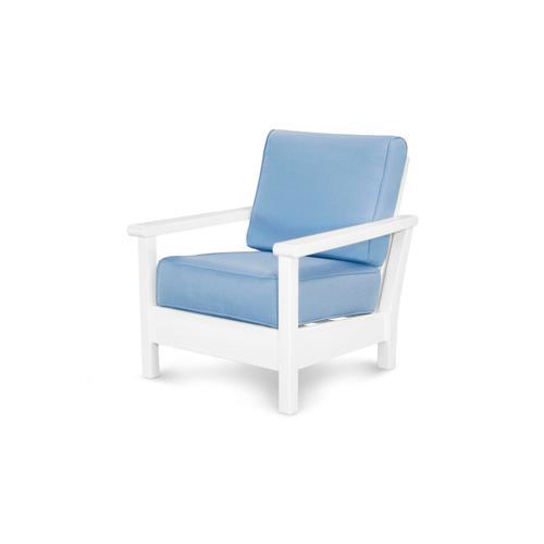 White & Air Blue Harbour Deep Seating Chair