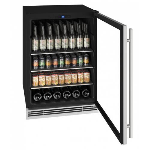 "Hbv024 24"" Beverage Center With Stainless Frame Finish (115 V/60 Hz Volts /60 Hz Hz)"