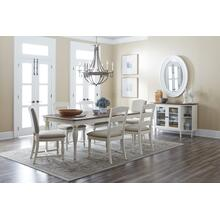 Castle Hill Rectangle Dining Table With 6 Upholstered Chairs