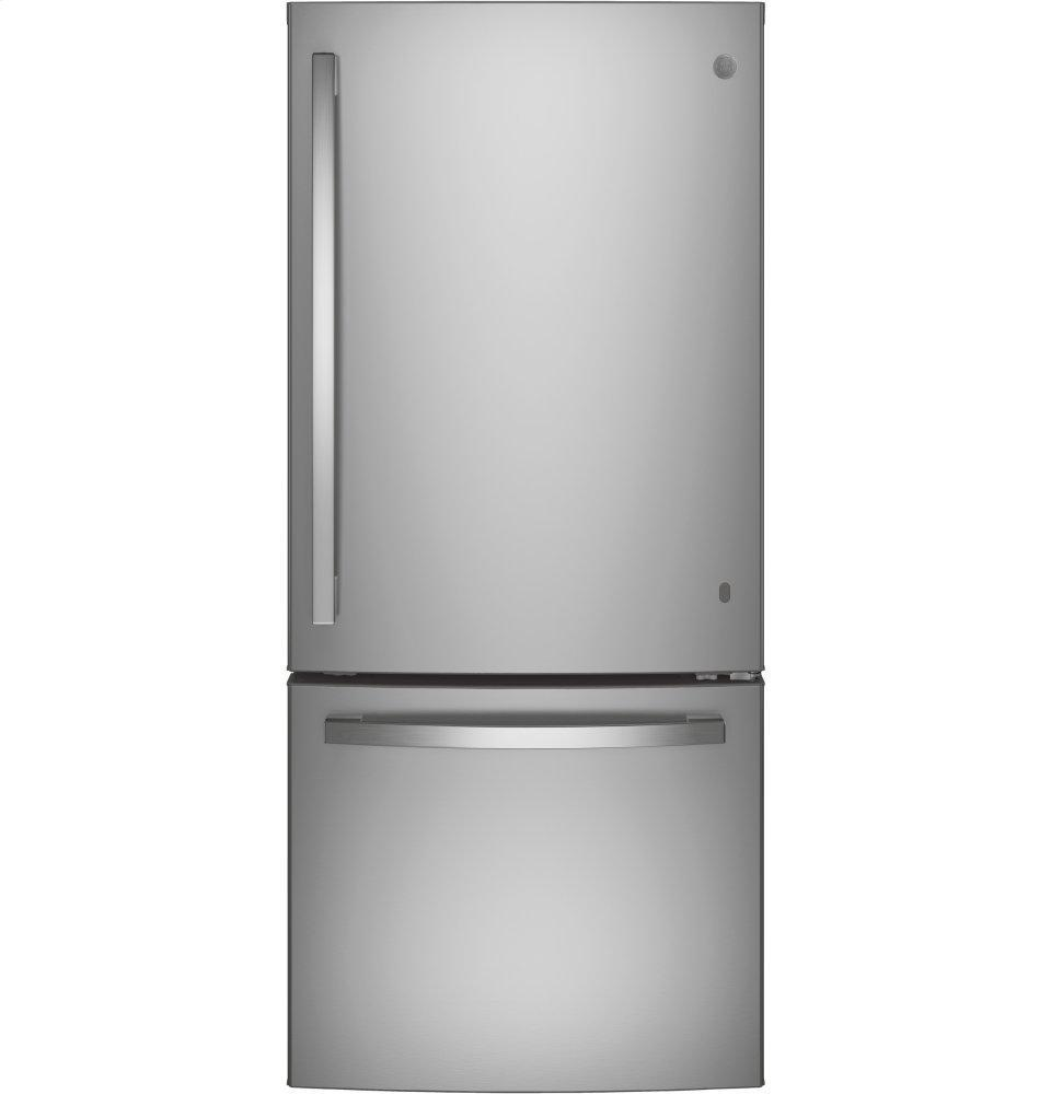 GEEnergy Star® 21.0 Cu. Ft. Bottom-Freezer Refrigerator