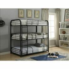 ACME Cairo Triple Bunk Bed - Full - 37330 - Sandy Black