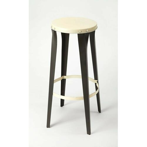 Butler Specialty Company - This backless iron barstool is a unique, modern addition to your dining room and breakfast nook high top table. They have a sturdy, four-legged design that provides a rustic, yet modern look that not only provides extra seating for your guests but also creates a modern, industrial style effortlessly in any room. With a circular top, allowing it to be placed in any direction, this lightweight design comes standard with a foot rest to ensure a comfortable resting place.