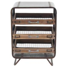 """MTL WD TRAY CHEST 20""""W, 26""""H"""