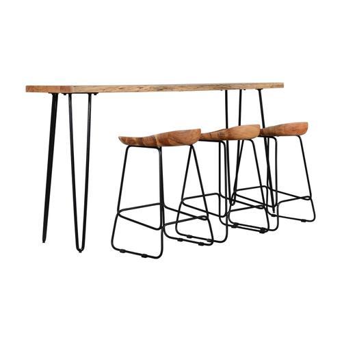 Jofran - Nature's Edge Sofa Counter Table Natural & 3 Stools