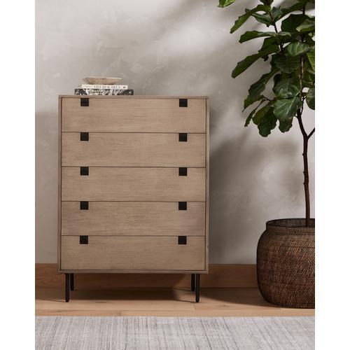 Carly 5 Drawer Dresser-grey Wash