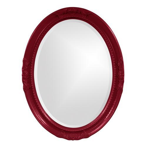 Howard Elliott - Queen Ann Mirror - Glossy Burgundy