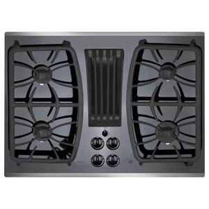 "GE Profile 30"" Built-In Gas Downdraft Cooktop"