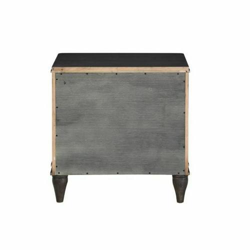 ACME Lorenzo Nightstand - 28093 - Transitional - Wood (Poplar+Pine+Rbw), Wood Veneer (Cherry), Ply, PB - Espresso