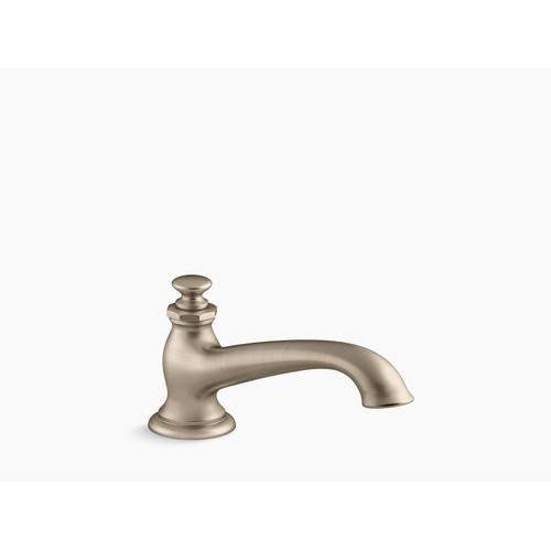 Vibrant Brushed Bronze Deck-mount Bath Spout With Flare Design