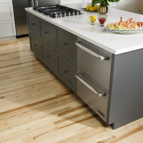 """Product Image - Euro-Style 24"""" Double-Refrigerator Drawers Stainless Steel"""