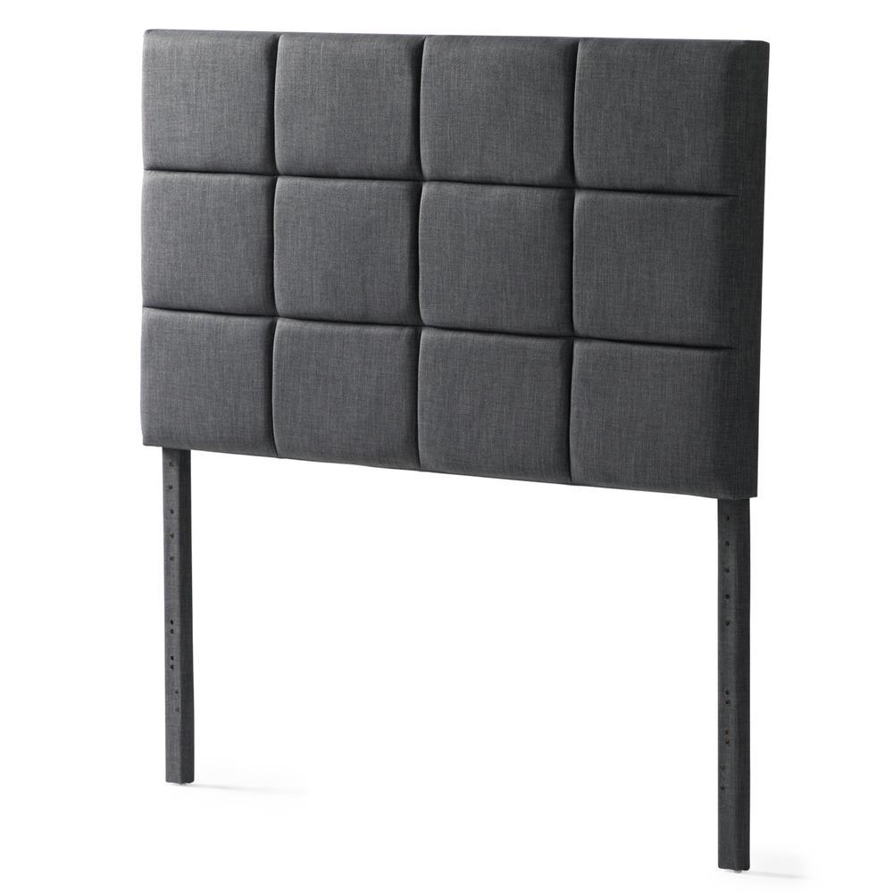Designer Scoresby Headboard - Queen Charcoal