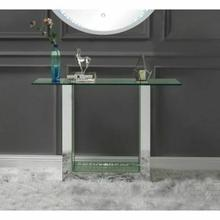 ACME Nysa Console Table - 90495 - Mirrored & Faux Crystals