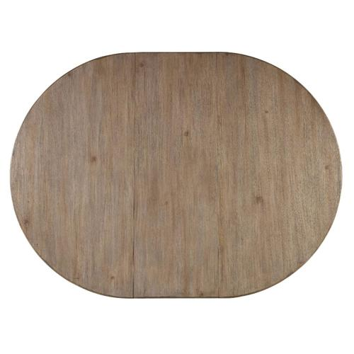 Dining Room Corsica Dark Round Dining Table (Dark Base/Light Top)
