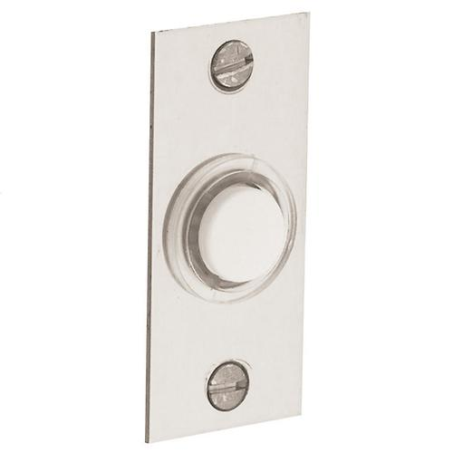 Polished Nickel with Lifetime Finish Rectangular Bell Button