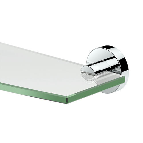 Glam Glass Shelf in Chrome