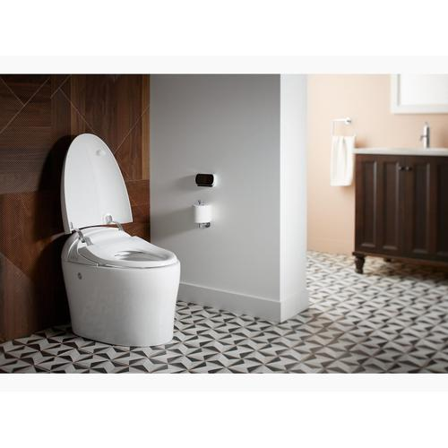 White Intelligent Compact Elongated 1.08 Gpf Chair Height Toilet