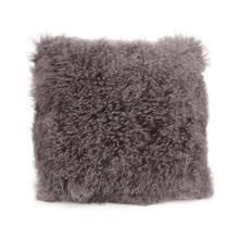 See Details - Lamb Fur Pillow Large Grey