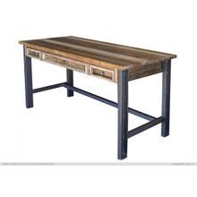 See Details - 3 Drawer Desk w/Iron Base