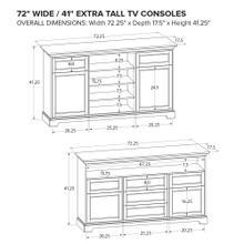 Howard Miller Extra Tall Custom TV Console XT72D