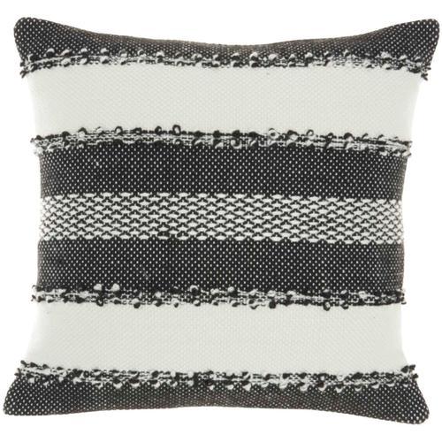 """Outdoor Pillows Vj088 Black 18"""" X 18"""" Throw Pillow"""