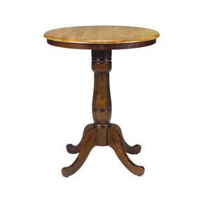 30'' Pedestal Table in Cinnamon & Espresso