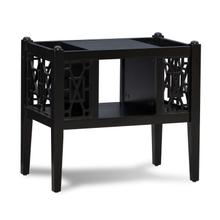 Ainsley Magazine Table Black
