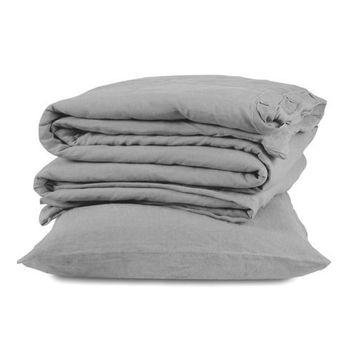 Royal Linen 3pc Duvet Cover Set - King / White