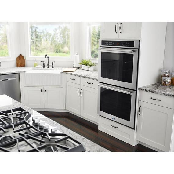 Maytag - 30-Inch Wide Double Wall Oven With True Convection - 10.0 Cu. Ft.