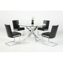 View Product - Modrest Pyrite Modern Round Glass Dining Table