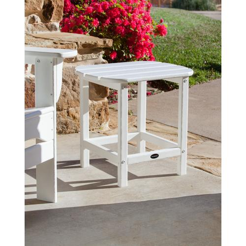 """South Beach Vintage White 18"""" Side Table"""