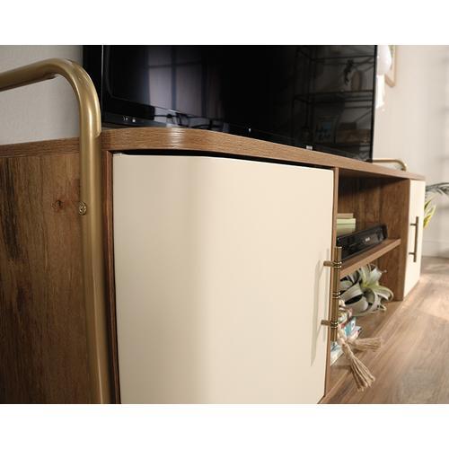 Mid-Century Modern TV Credenza with Doors
