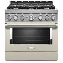 See Details - KitchenAid® 36'' Smart Commercial-Style Gas Range with 6 Burners - Milkshake