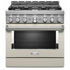 KitchenAid® 36'' Smart Commercial-Style Gas Range with 6 Burners - Milkshake Product Image