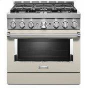 KitchenAid® 36'' Smart Commercial-Style Gas Range with 6 Burners - Milkshake
