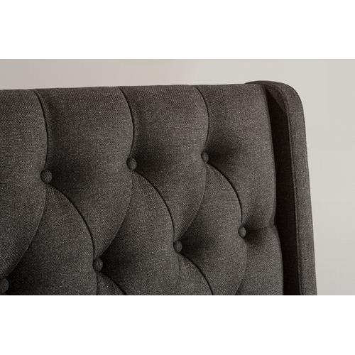 Churchill Queen Bed - Onyx Linen
