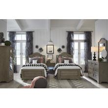 Farm House Complete Arched Panel Bed, Twin
