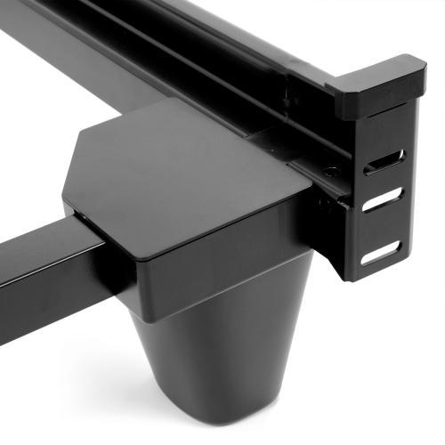 Leggett and Platt - Presto Universal Sized Folding Bed Frame with Headboard Brackets, Charcoal