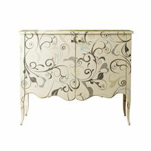 Valentina 2 Door Cabinet with Floral Art