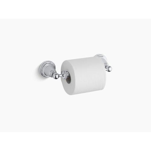 Vibrant Polished Nickel Toilet Paper Holder
