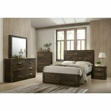 ACME Elettra Queen Bed - 24850Q - Rustic Walnut