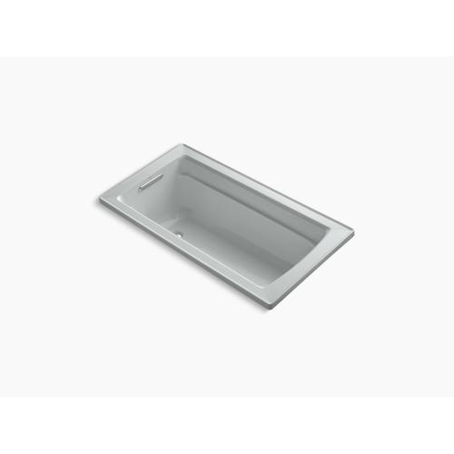 "Ice Grey 60"" X 32"" Drop-in Bath With Bask Heated Surface and Reversible Drain"