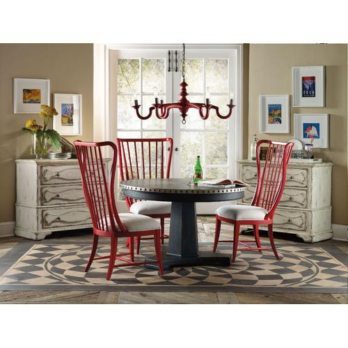 Dining Room Sanctuary Round Aluminum Dining Table