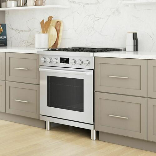 800 Series Dual Fuel Freestanding Range 30'' Stainless Steel HDS8055U