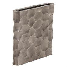 View Product - Hammered Aluminum Flat Vase Graphite, Small